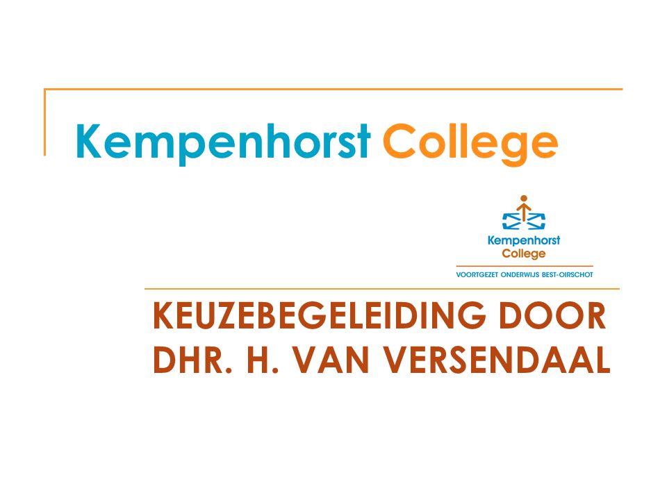 KEUZEBEGELEIDING DOOR DHR. H. VAN VERSENDAAL