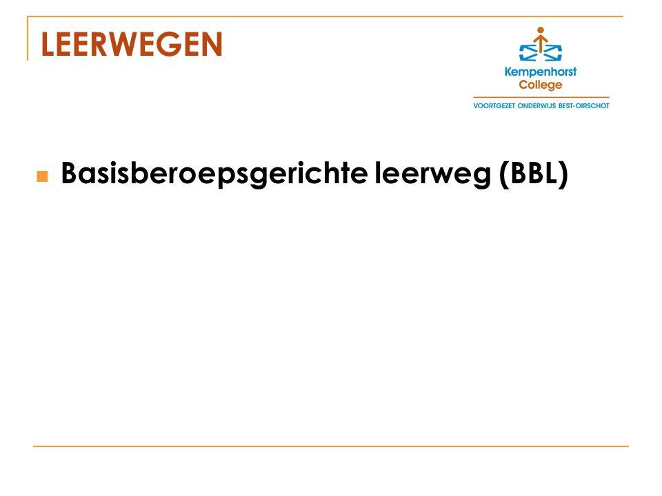 LEERWEGEN Basisberoepsgerichte leerweg (BBL)