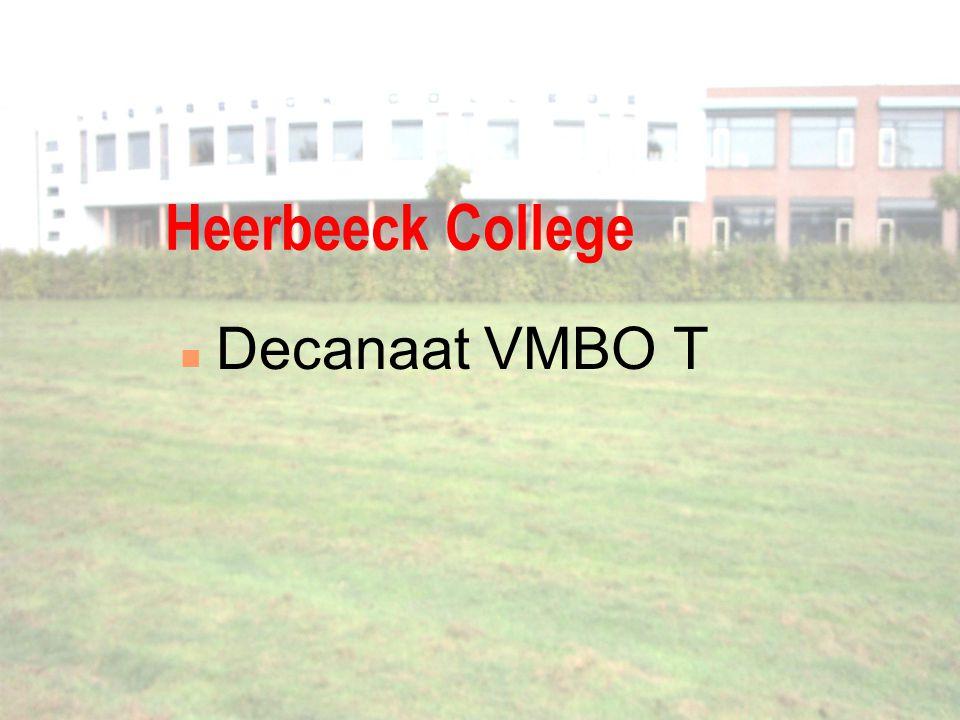 Heerbeeck College Decanaat VMBO T