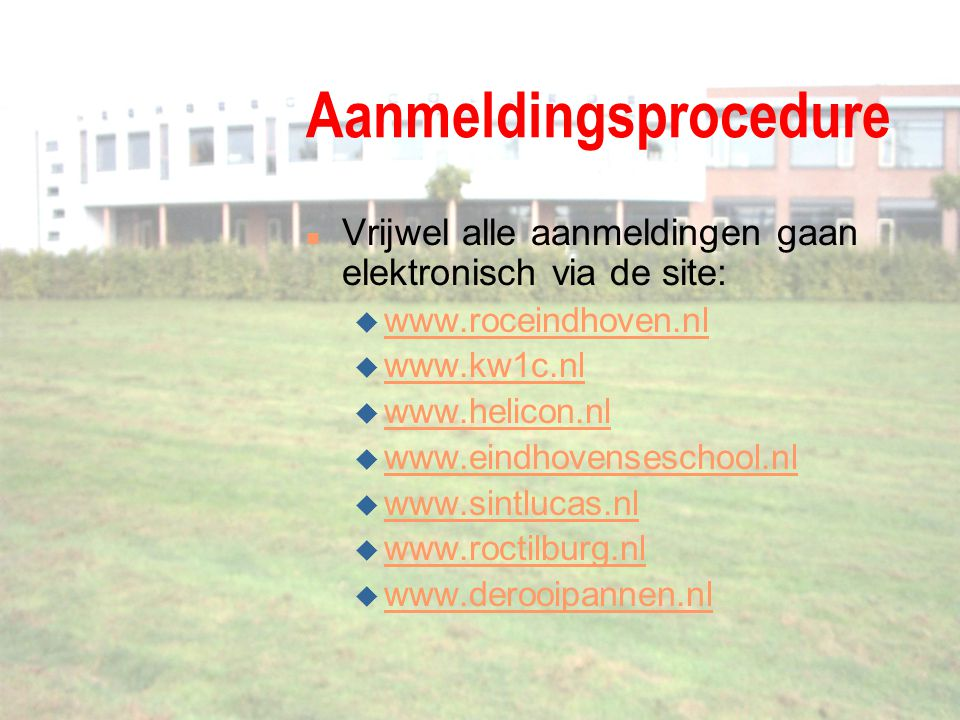 Aanmeldingsprocedure