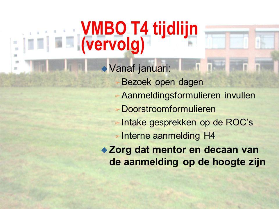 VMBO T4 tijdlijn (vervolg)