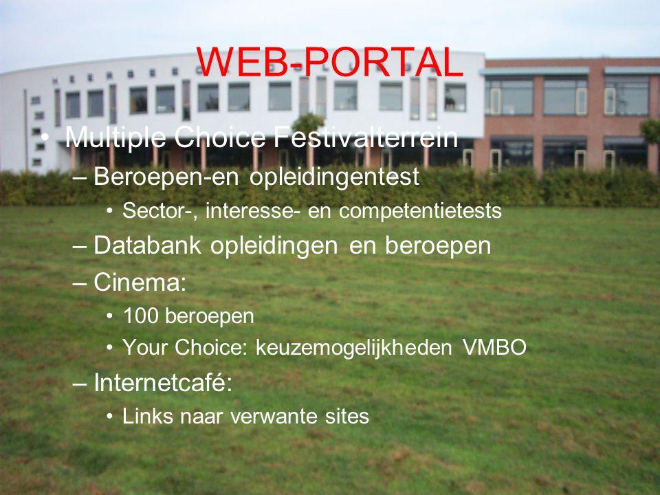WEB-PORTAL Multiple Choice Festivalterrein Beroepen-en opleidingentest