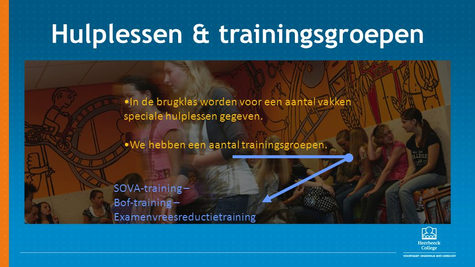 Hulplessen & trainingsgroepen