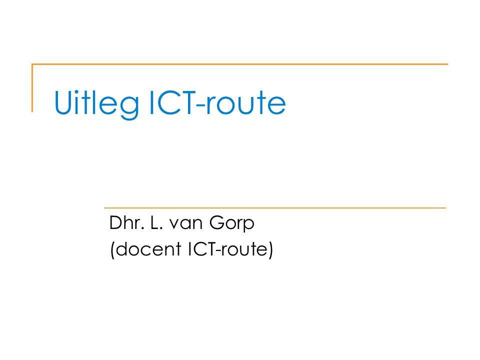 Dhr. L. van Gorp (docent ICT-route)