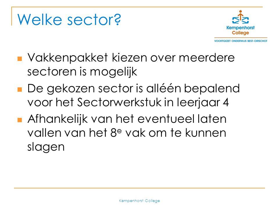 Welke sector Vakkenpakket kiezen over meerdere sectoren is mogelijk