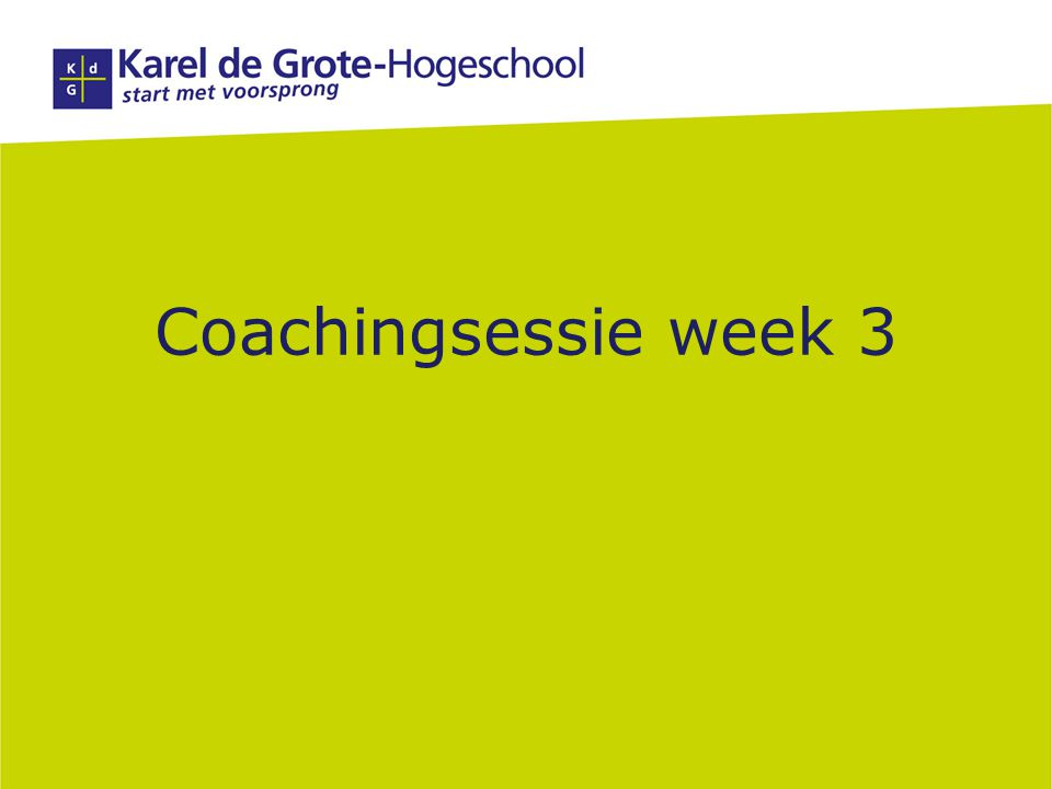 Coachingsessie week 3 1 1