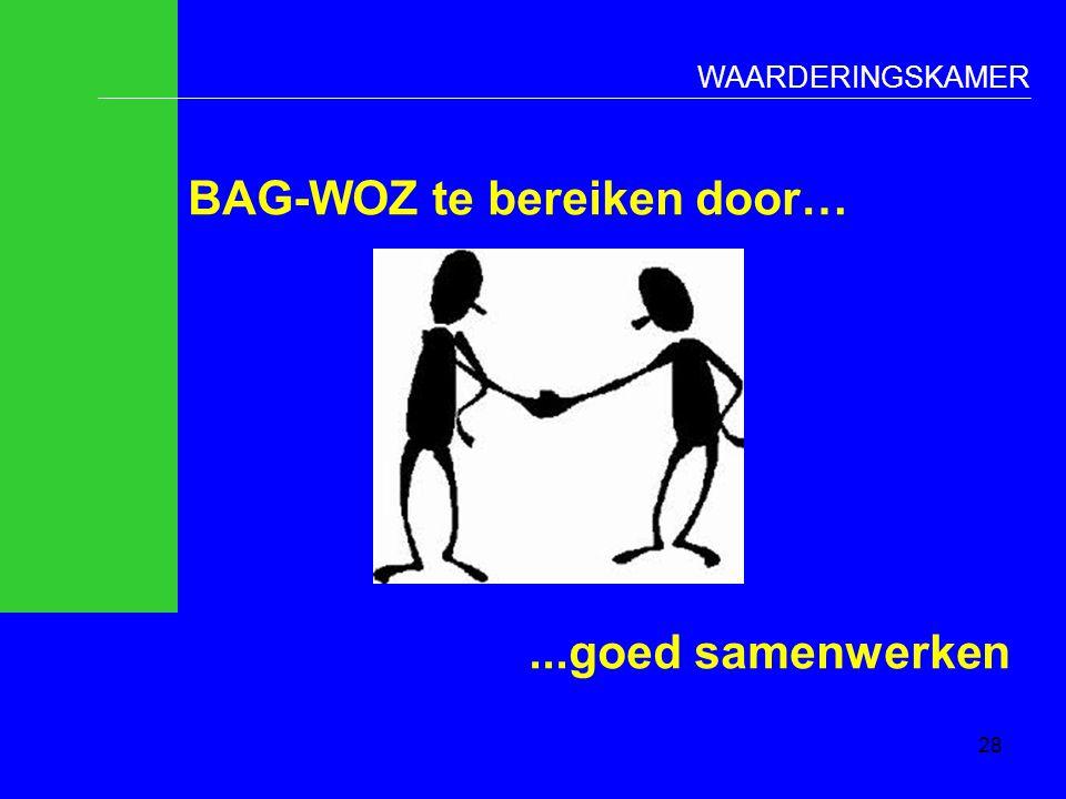 BAG-WOZ te bereiken door… ...goed samenwerken