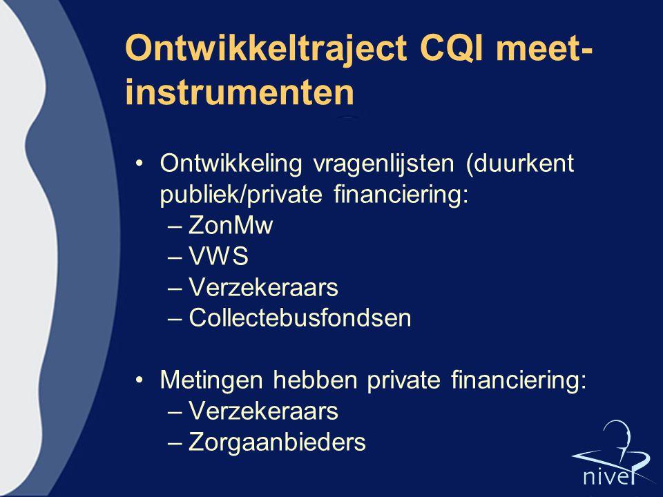 Ontwikkeltraject CQI meet-instrumenten