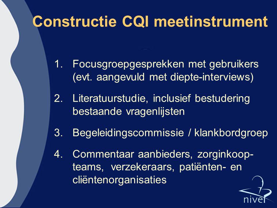 Constructie CQI meetinstrument