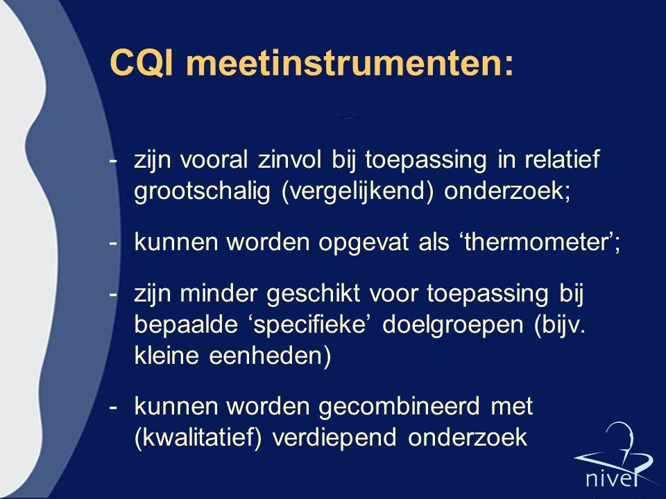 CQI meetinstrumenten: