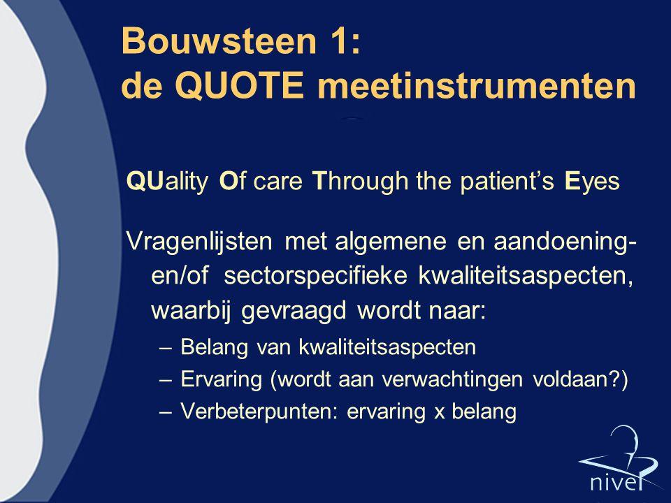 Bouwsteen 1: de QUOTE meetinstrumenten