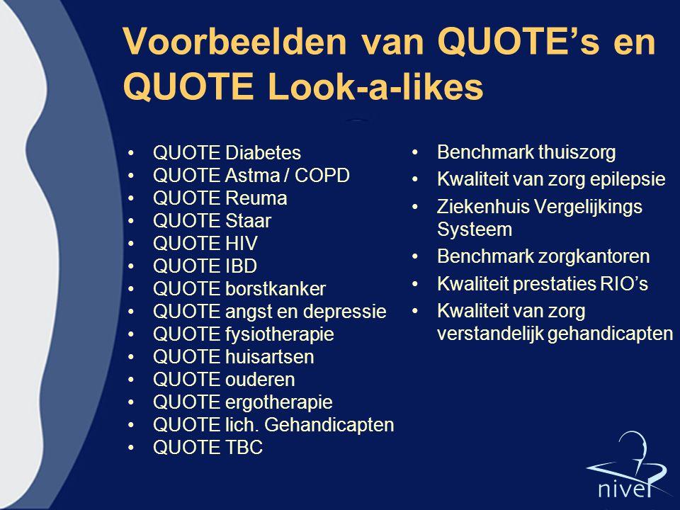 Voorbeelden van QUOTE's en QUOTE Look-a-likes