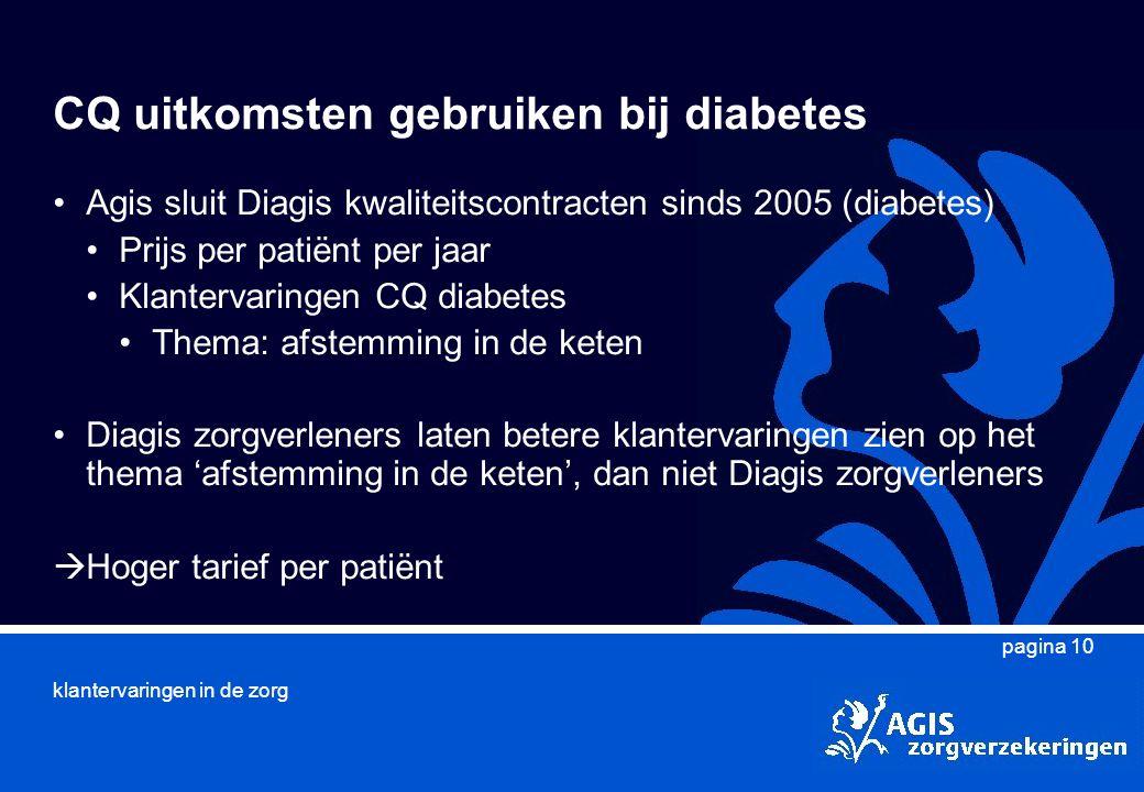 CQ uitkomsten gebruiken bij diabetes