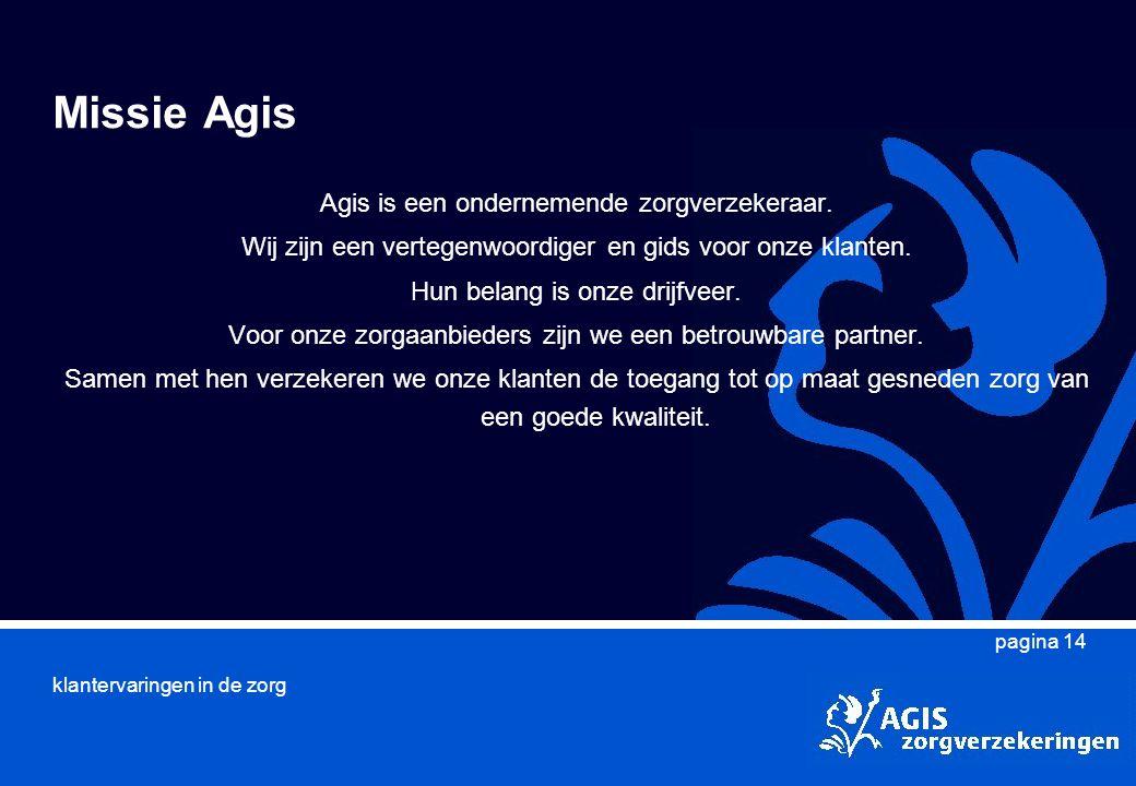 Missie Agis Agis is een ondernemende zorgverzekeraar.