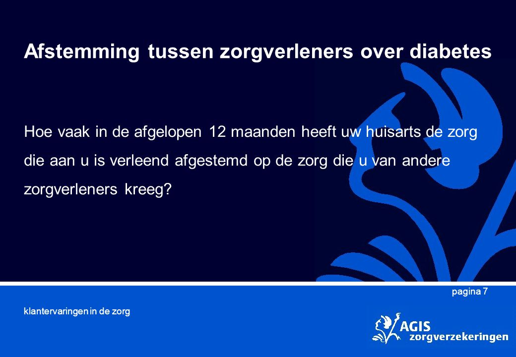 Afstemming tussen zorgverleners over diabetes