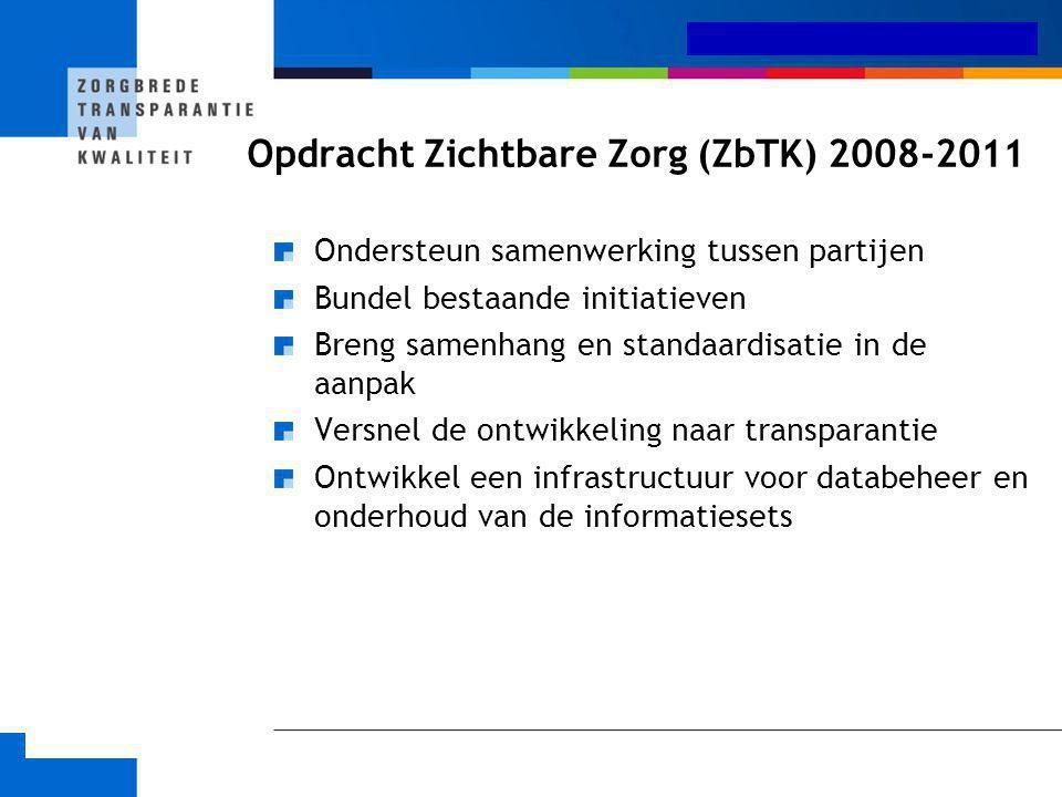 Opdracht Zichtbare Zorg (ZbTK) 2008-2011
