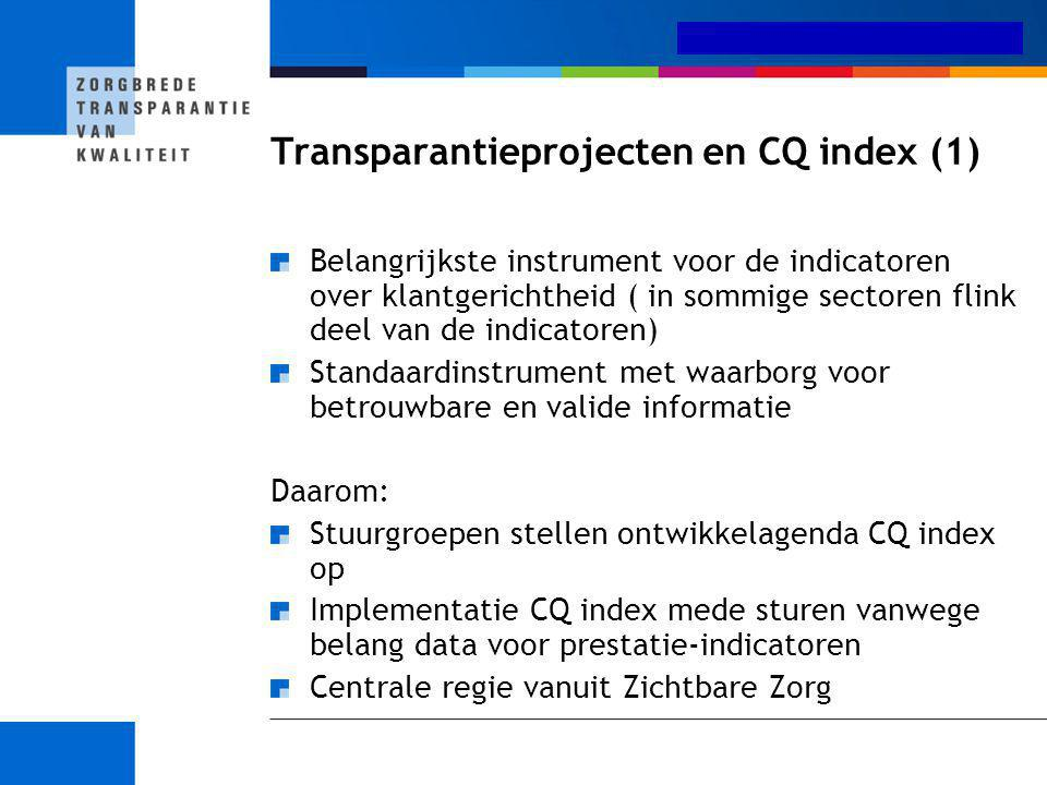 Transparantieprojecten en CQ index (1)