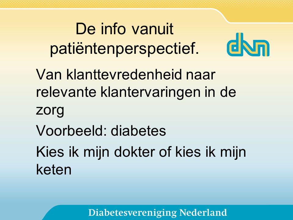 De info vanuit patiëntenperspectief.