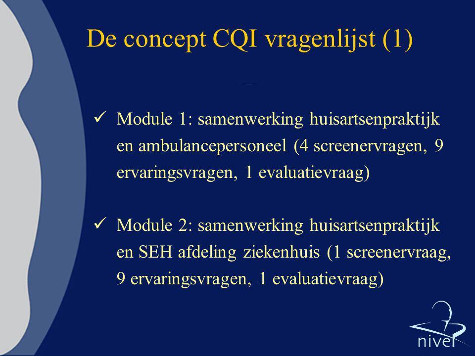 De concept CQI vragenlijst (1)
