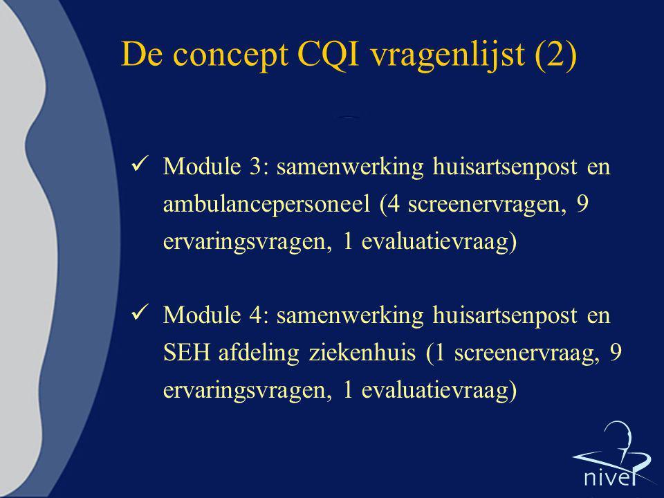 De concept CQI vragenlijst (2)