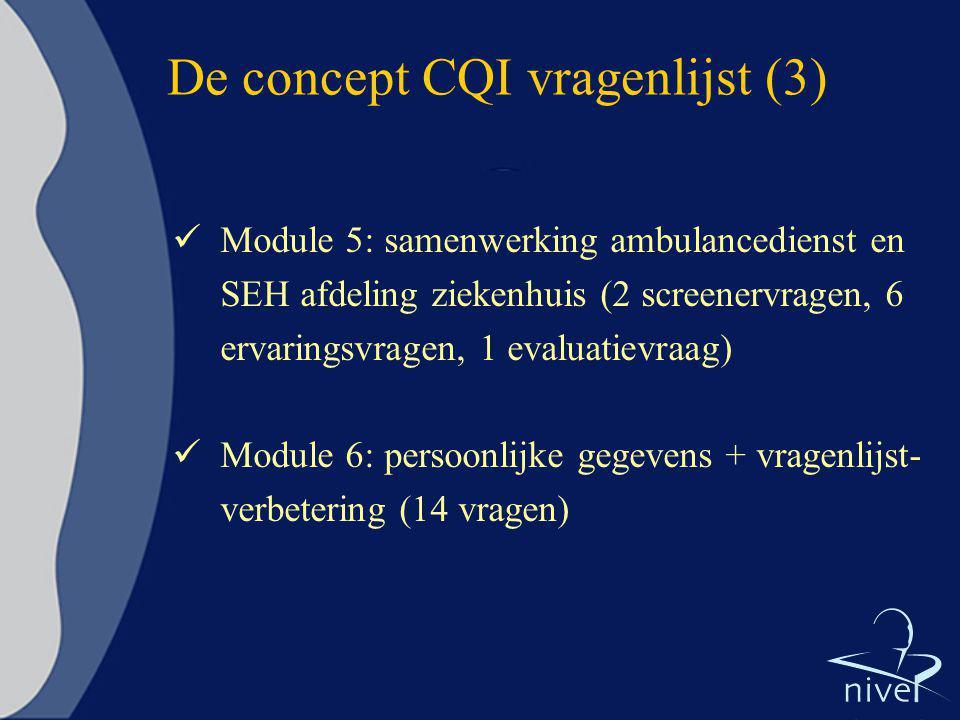 De concept CQI vragenlijst (3)