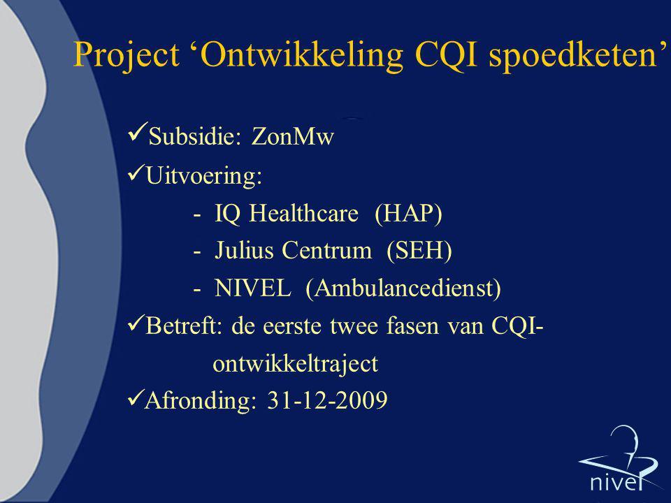Project 'Ontwikkeling CQI spoedketen'