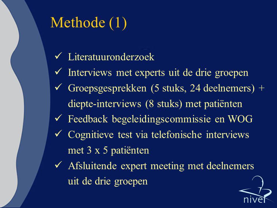 Methode (1) Literatuuronderzoek