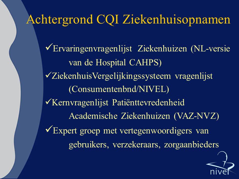 Achtergrond CQI Ziekenhuisopnamen