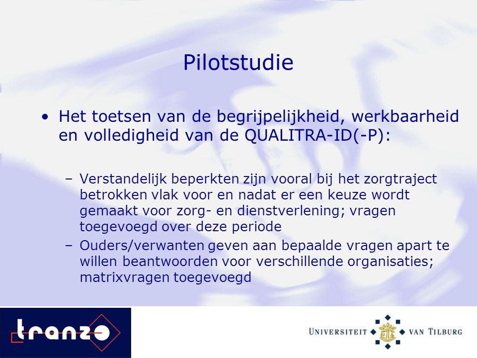 Pilotstudie Het toetsen van de begrijpelijkheid, werkbaarheid en volledigheid van de QUALITRA-ID(-P):
