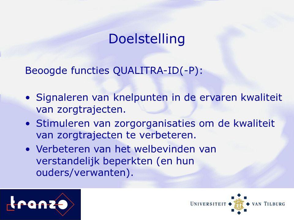 Doelstelling Beoogde functies QUALITRA-ID(-P):