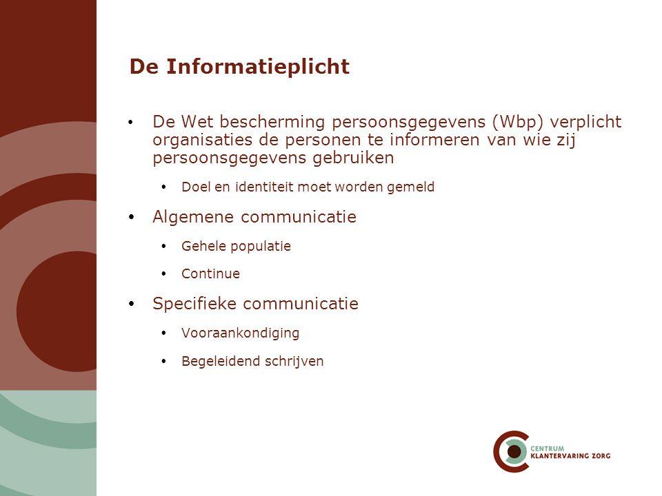 De Informatieplicht