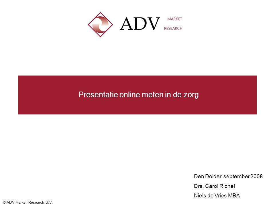 Presentatie online meten in de zorg