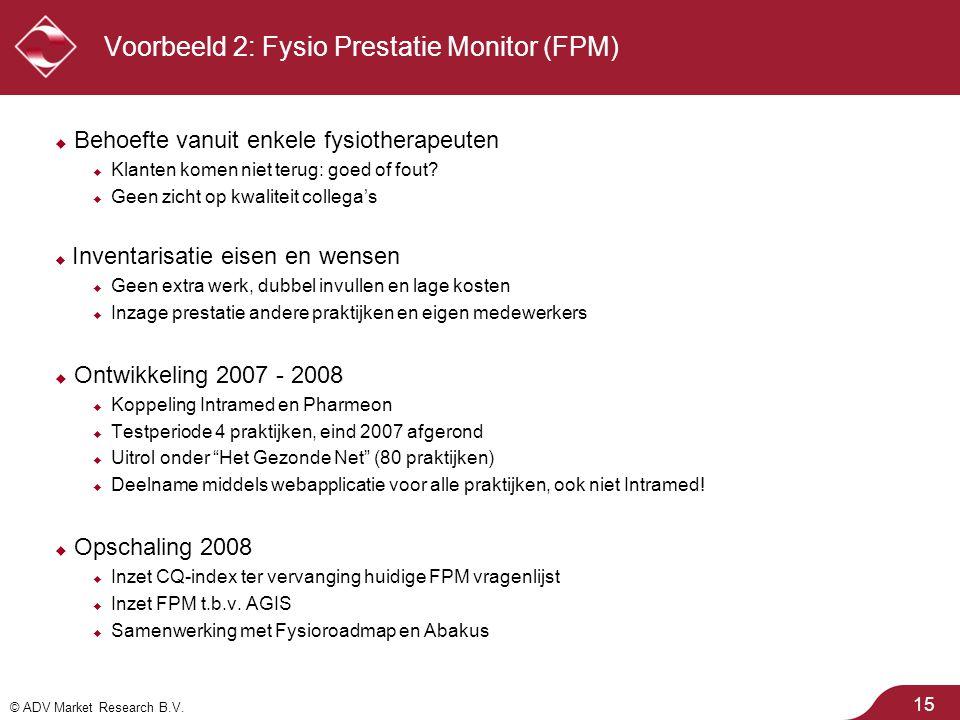Voorbeeld 2: Fysio Prestatie Monitor (FPM)
