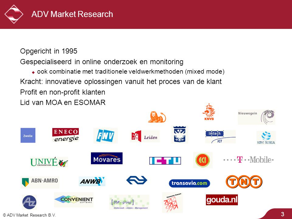 ADV Market Research Opgericht in 1995