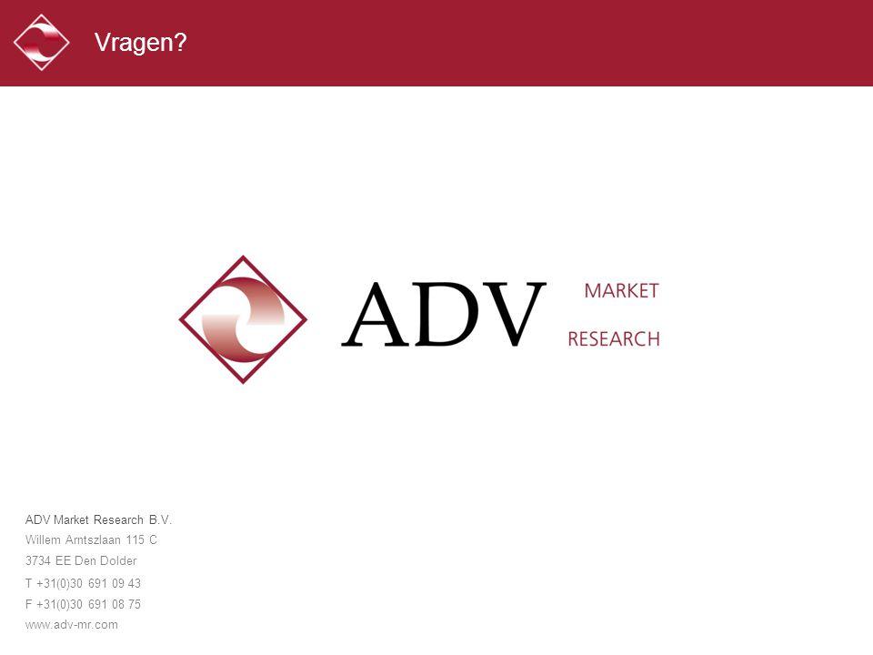 Vragen. ADV Market Research B.V. Willem Arntszlaan 115 C 3734 EE Den Dolder.
