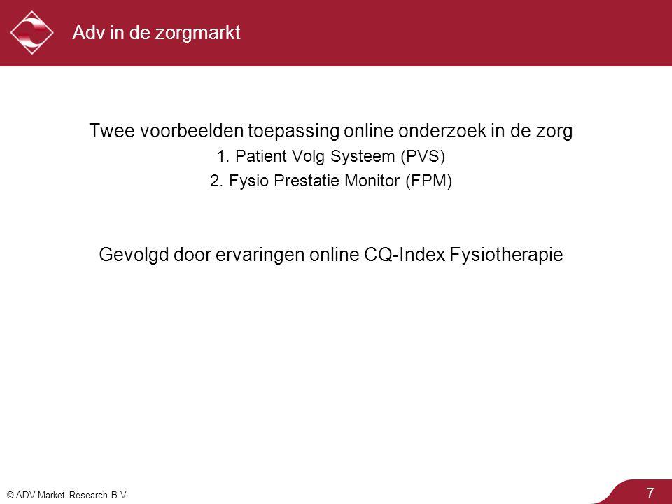 Twee voorbeelden toepassing online onderzoek in de zorg