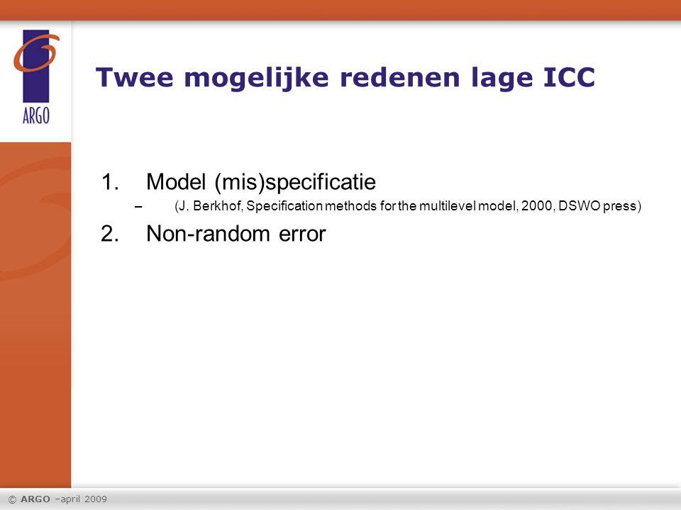 Twee mogelijke redenen lage ICC
