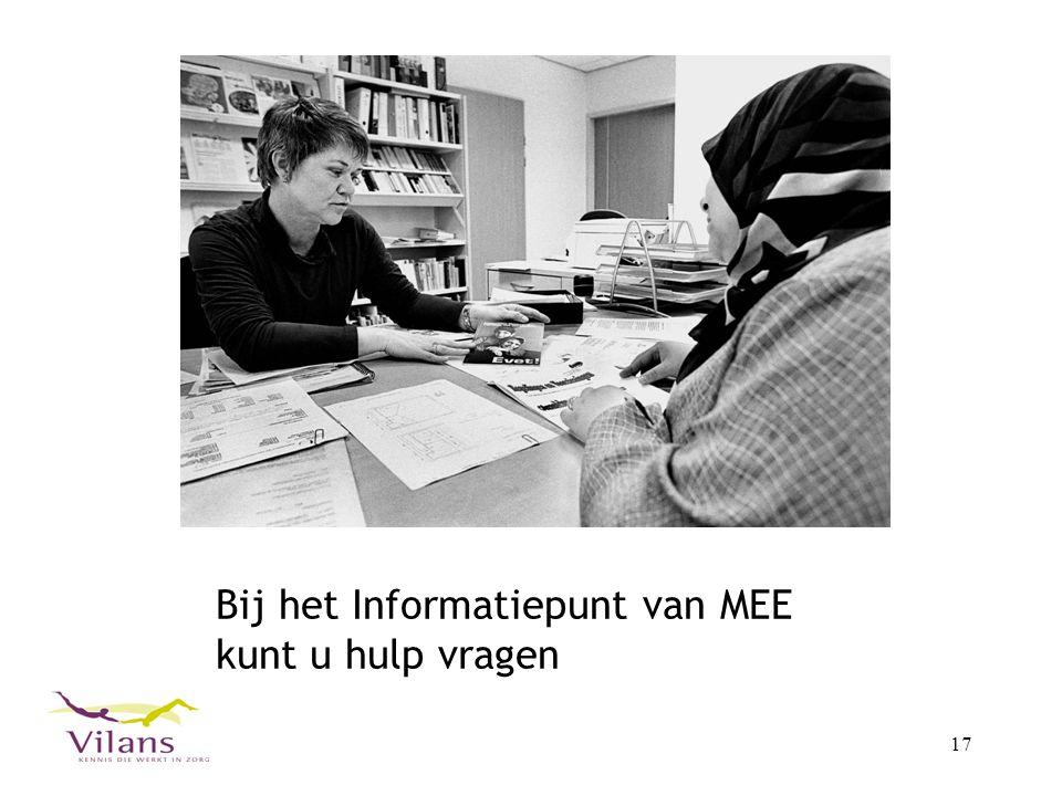 Bij het Informatiepunt van MEE kunt u hulp vragen