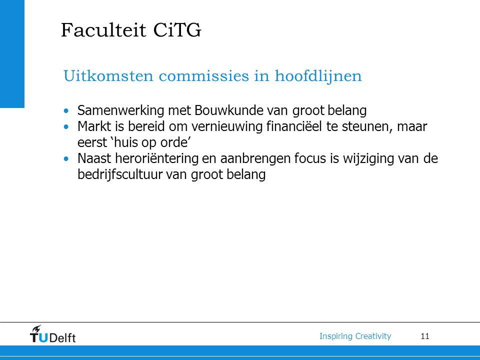 Faculteit CiTG Uitkomsten commissies in hoofdlijnen