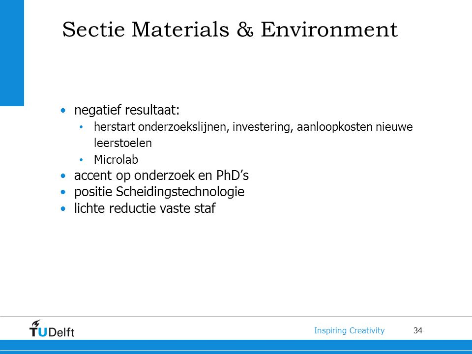 Sectie Materials & Environment