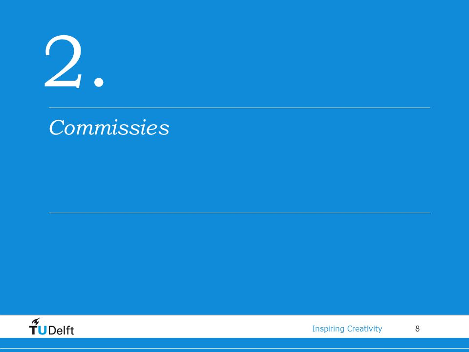 2. Commissies