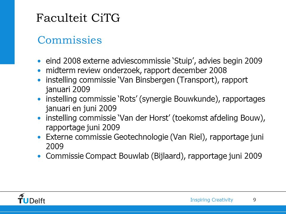 Faculteit CiTG Commissies