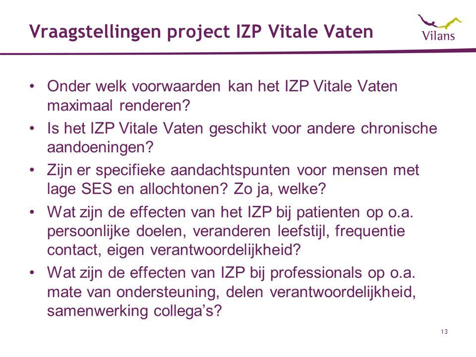 Vraagstellingen project IZP Vitale Vaten