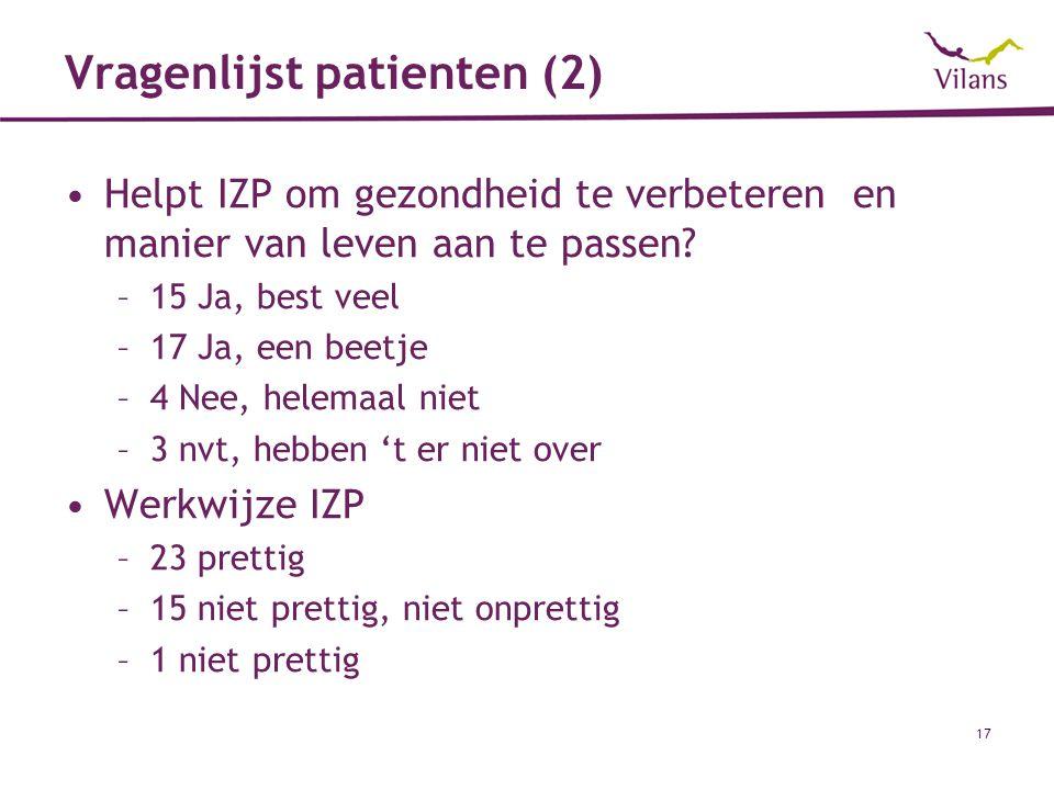 Vragenlijst patienten (2)