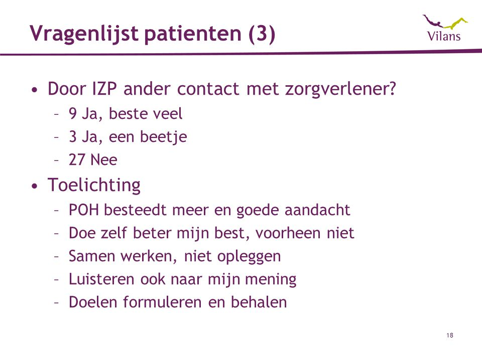 Vragenlijst patienten (3)