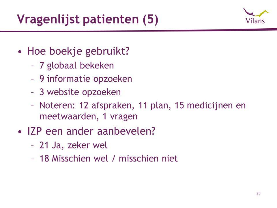 Vragenlijst patienten (5)