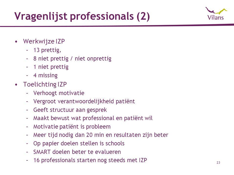 Vragenlijst professionals (2)