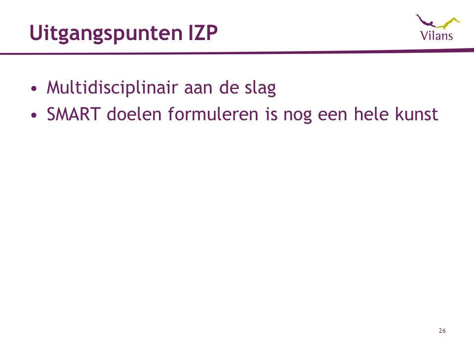 Uitgangspunten IZP Multidisciplinair aan de slag