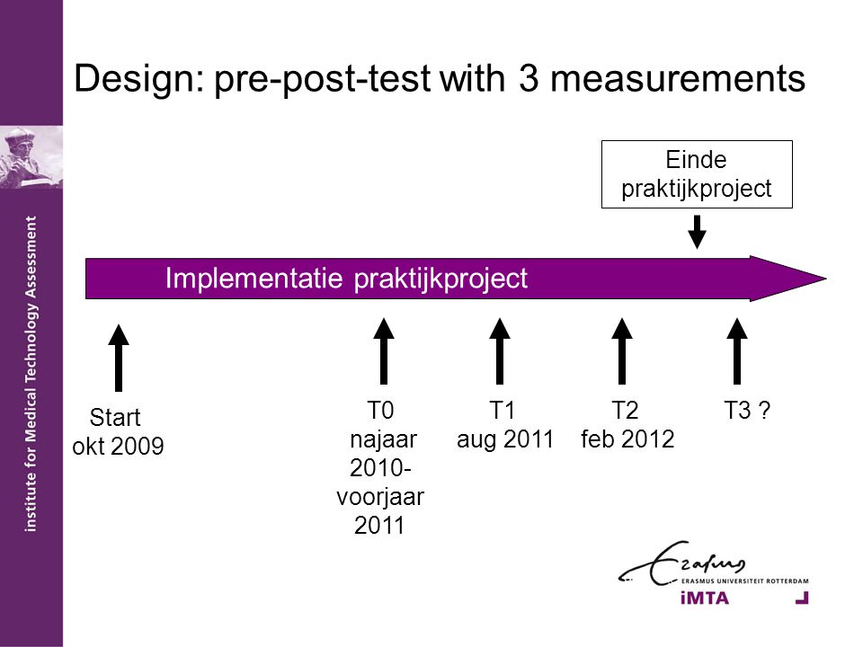 Design: pre-post-test with 3 measurements
