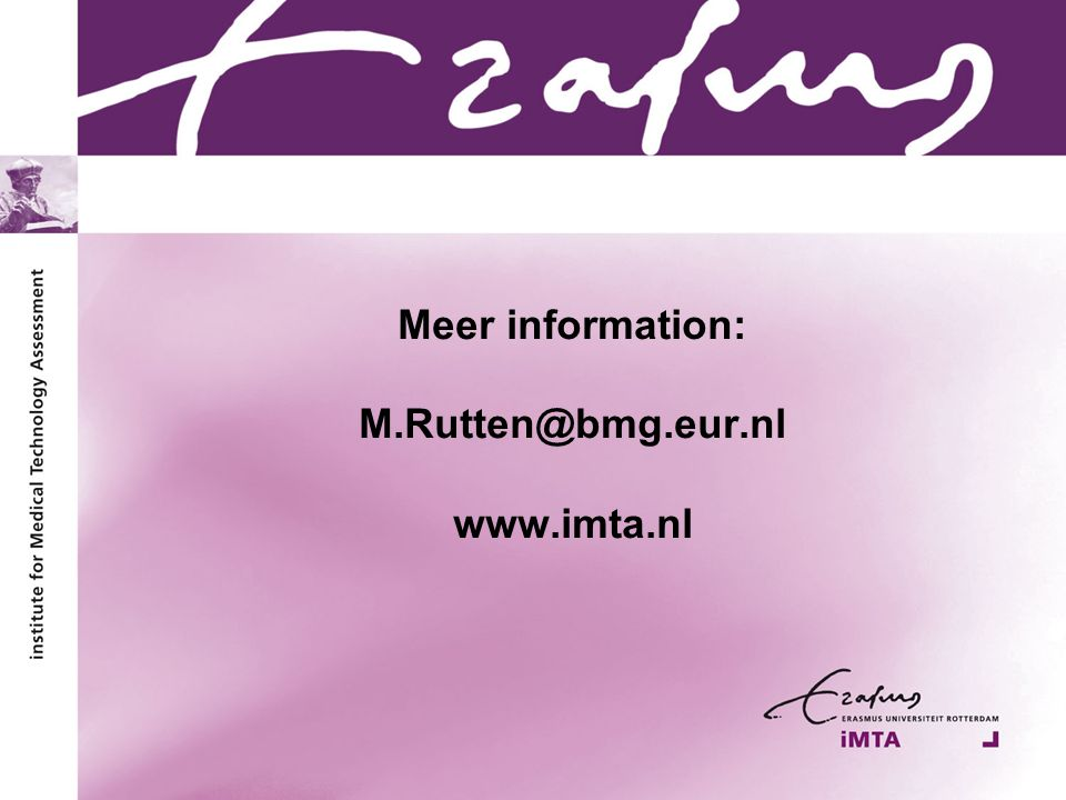 Meer information: M.Rutten@bmg.eur.nl www.imta.nl